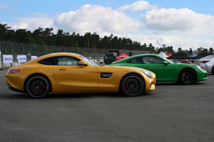 Mercedes AMG SLS und Porsche 911